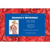 Western Paisley Custom Photo Personalized Invitations