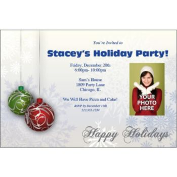 Jingle Bells Custom Photo Personalized Invitations