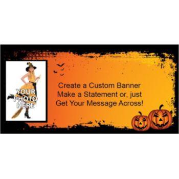 Spooky Pumpkins Custom Photo Banner