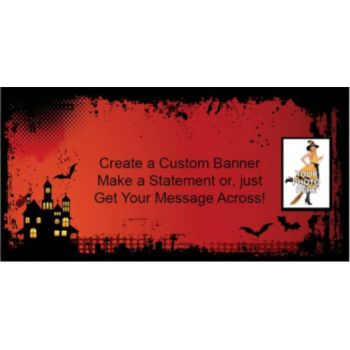 Haunted House Custom Photo Banner