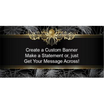 Golden Spider Custom Banner