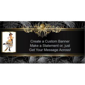 Golden Spider Custom Photo Banner