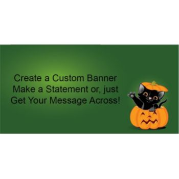 Pumpkin Peek-a-Boo Custom Banner