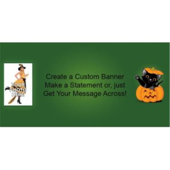 Pumpkin Peek-a-Boo Custom Photo Banner