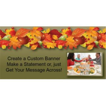 Autumn Leaves Custom Photo Banner