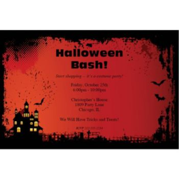 Haunted House Personalized Invitations