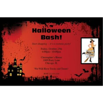 Haunted House Custom Photo Personalized Invitations