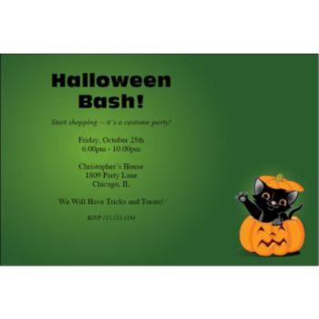 Pumpkin Peek-a-Boo Personalized Invitations
