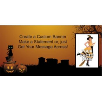 Halloween Haunting Custom Photo Banner
