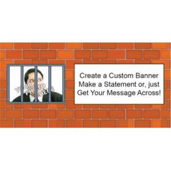 Behind Bars Custom Photo Banner