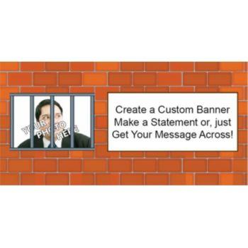 Behind Bars Custom Photo Banner
