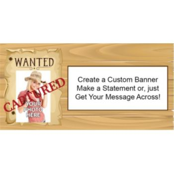 Was Wanted Custom Photo Banner