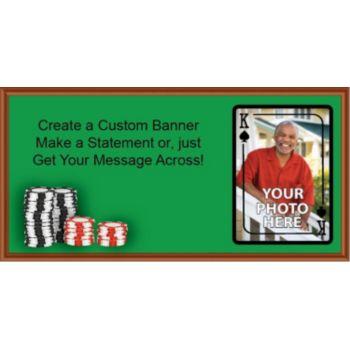 King of Spades Custom Photo Banner