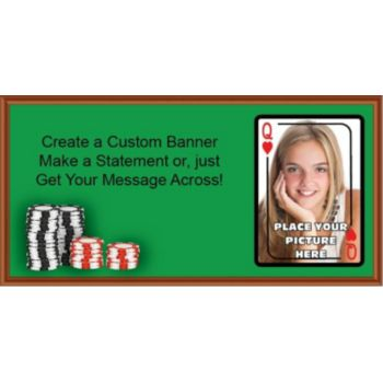 Queen of Hearts Custom Photo Banner