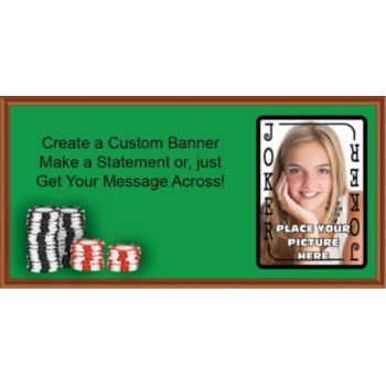 Poker Joker Custom Photo Banner