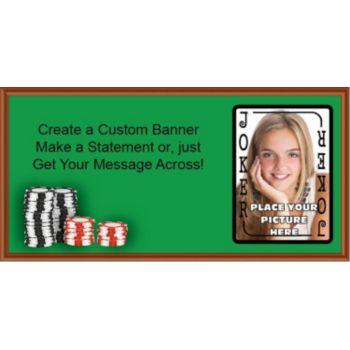 Poker Joker Custom Photo Banner