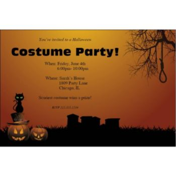 Halloween Haunting Personalized Invitations