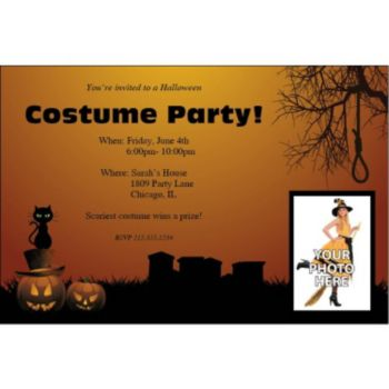 Halloween Haunting Personalized Photo Invitations