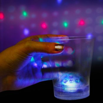 Multi-Color LED Disco Ball Rocks Glass - 8 Oz.