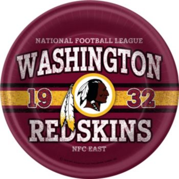 Washington Redskins 9 Inch Plates