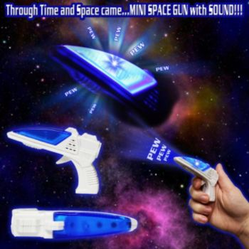 Mini LED Toy Space Gun with Sound - 3.5 Inch