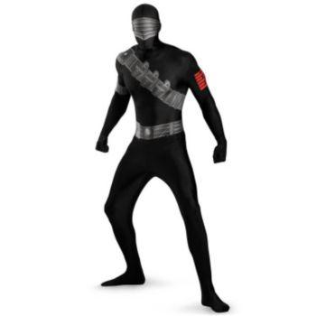GI Joe Snake Eyes Bodysuit Adult Costume