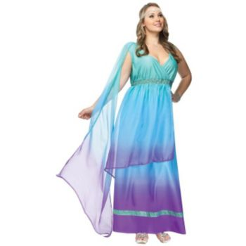 Sea Queen Adult Plus Size Costume