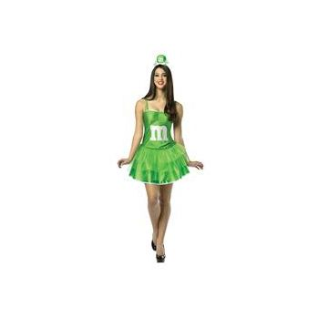 M&M's Green Adult Party Dress