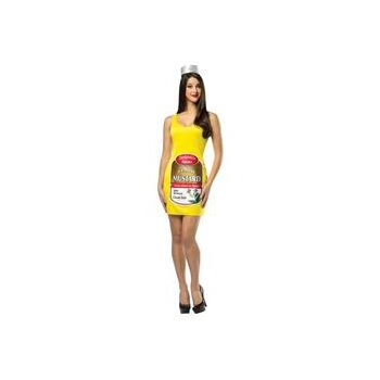 Zestyville Mustard Adult Tank Dress
