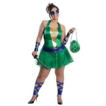 Teenage Mutant Ninja Turtles Leonardo Adult Plus Size Dress
