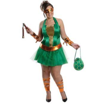 Teenage Mutant Ninja Turtles Michelangelo Adult Plus Size  Dress