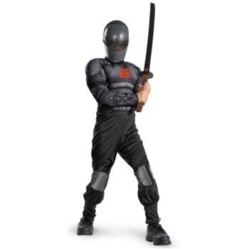 G.I. Joe Retaliation Snake Eyes Light up Deluxe Muscle Chest Child Costume