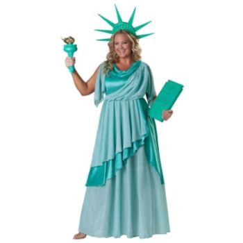 Lady Liberty Elite Collection Adult Plus Costume