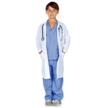 Doctor Scrubs with Lab Coat Child Costume