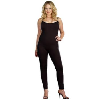 Black Plus Adult Unitard