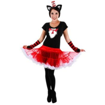 Cat In The Hat Tutu Adult Costume