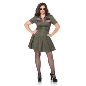 Top Gun Adult Plus Flight Costume