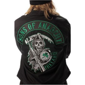 Sons Of Anarchy Green Ireland Mechanic Jacket