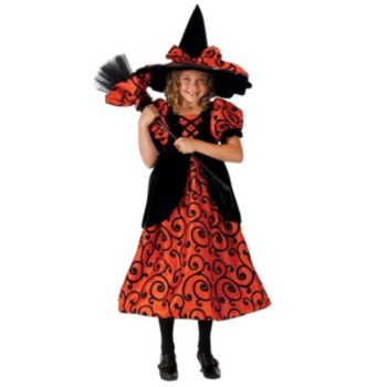 Trick or Treat Witch Dress and Hat Kids Costume