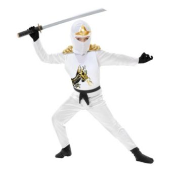 White Ninja Avengers Series II ToddlerChild Costume