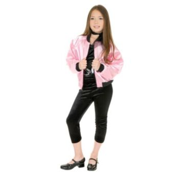 Pink Satin Ladies Kids Jacket