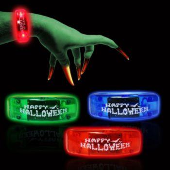 Assorted Color Halloween LED Bangle Bracelets - 12 Pack