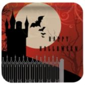 Frightful Night 7 Inch Plates, 8 Pack