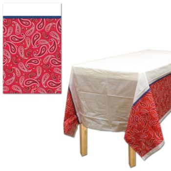 Western Paisley  Plastic Table Cover