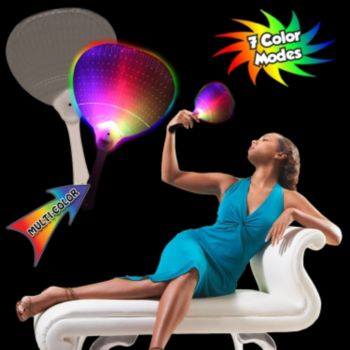 Light Up Plastic  Hand Fan