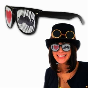 I Love Mustache Billboard Sunglasses