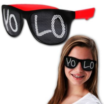 Neon Billboard YOLO Sunglasses