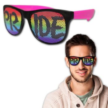 Neon Billboard Rainbow Pride Sunglasses