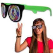 Neon Billboard Peace Sign Sunglasses