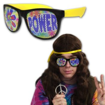 Neon Billboard Flower Power Sunglasses